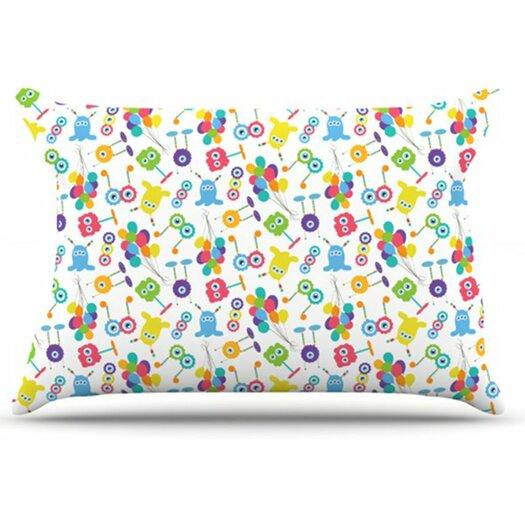 KESS InHouse Fun Creatures Pillowcase