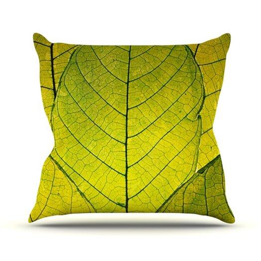 KESS InHouse Every Leaf a Flower Throw Pillow