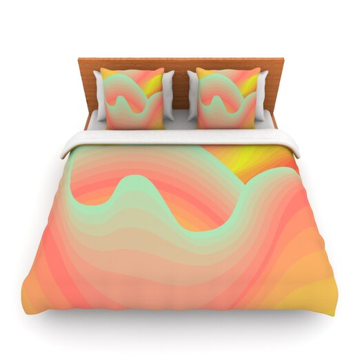 KESS InHouse Way of the Waves Blossom Bird Duvet