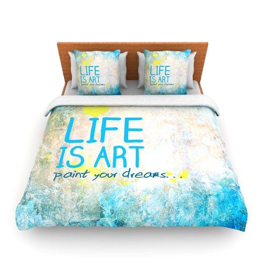 KESS InHouse Life Is Art Duvet