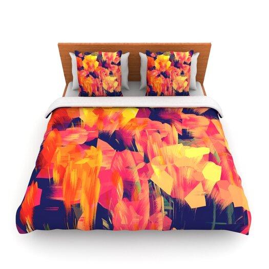 KESS InHouse Geo Flower Duvet