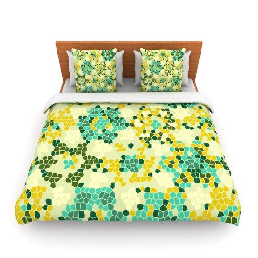 KESS InHouse Flower Garden Mosaic Duvet Cover