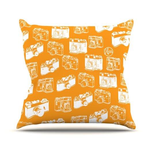 KESS InHouse Camera Pattern Throw Pillow