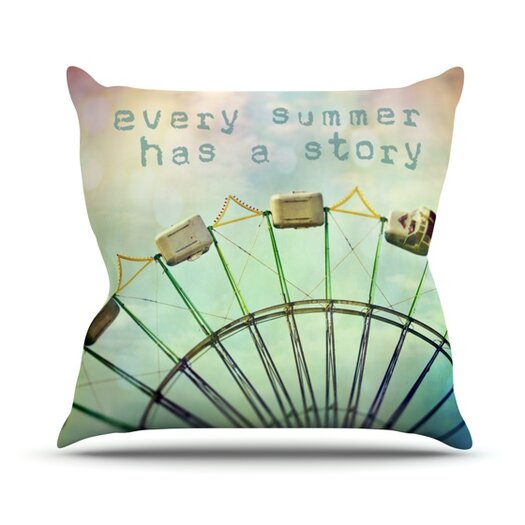 KESS InHouse Every Summer Has a Story Throw Pillow