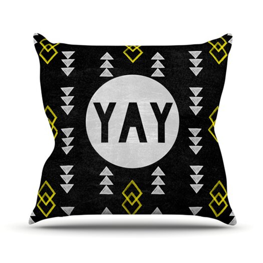 KESS InHouse Yay Throw Pillow