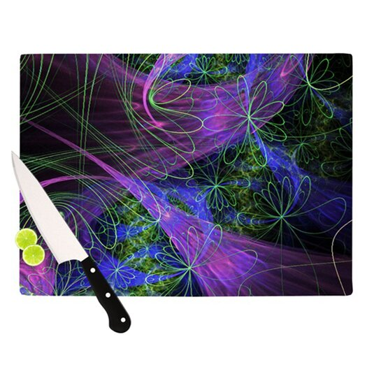KESS InHouse Floral Garden Cutting Board