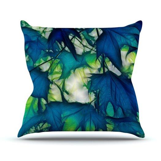 KESS InHouse Leaves Throw Pillow