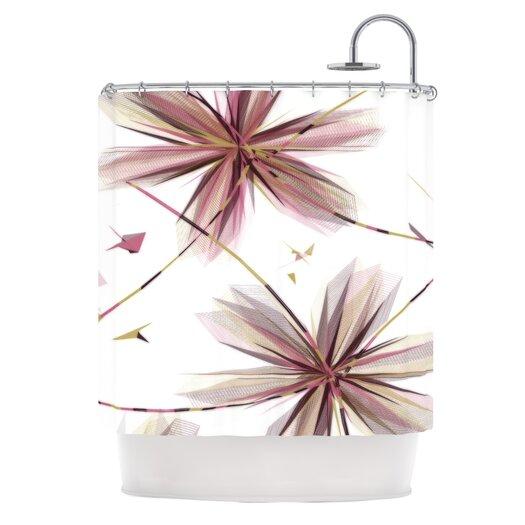 KESS InHouse Flower Polyester Shower Curtain