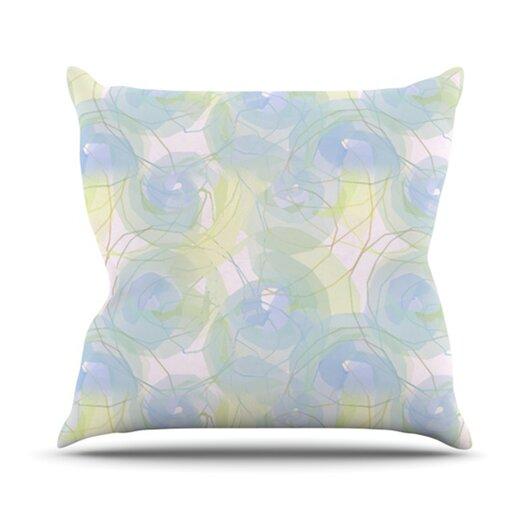 KESS InHouse Paper Flower Throw Pillow