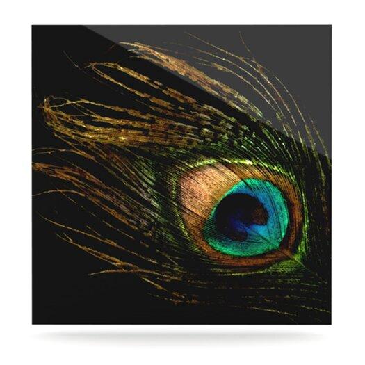 KESS InHouse Peacock by Alison Coxon Graphic Art Plaque