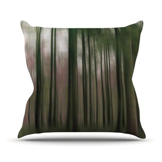 KESS InHouse Forest Blur Throw Pillow