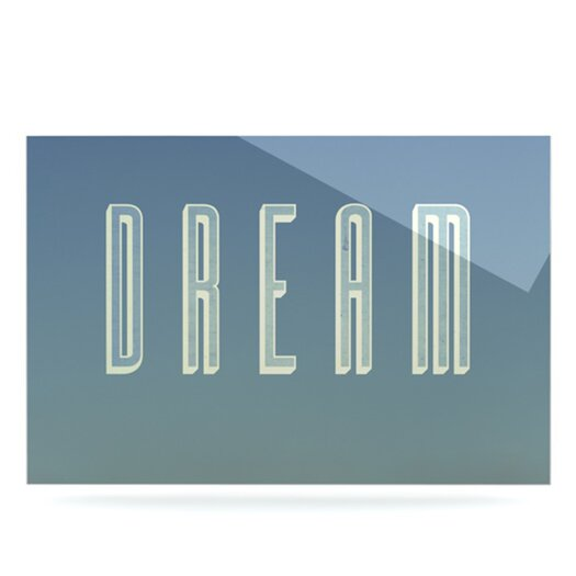 KESS InHouse Dream Print by Anna Farath Textual Art Plaque
