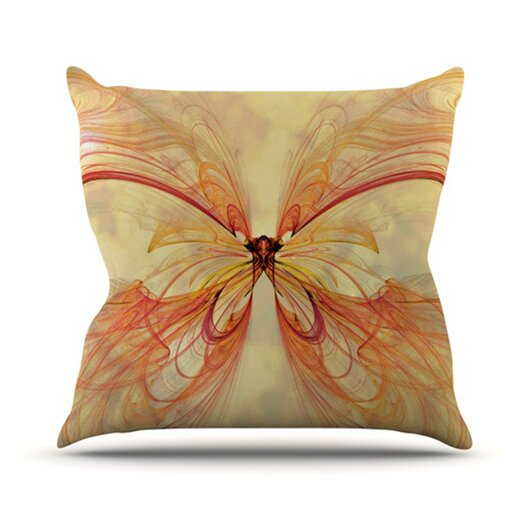 KESS InHouse Papillion Throw Pillow