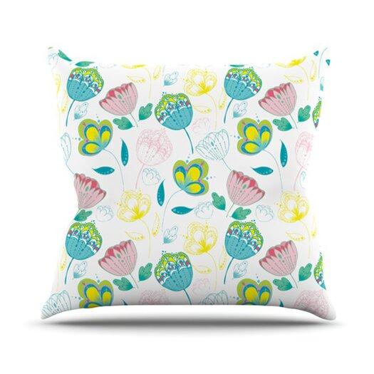 KESS InHouse Indie Floral Throw Pillow