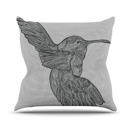 KESS InHouse Hummingbird Throw Pillow