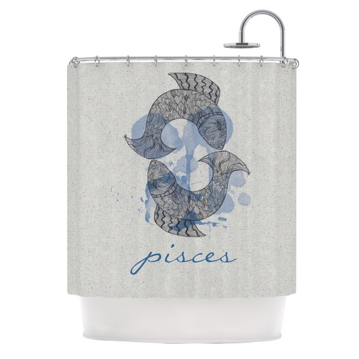 KESS InHouse Pisces Polyester Shower Curtain
