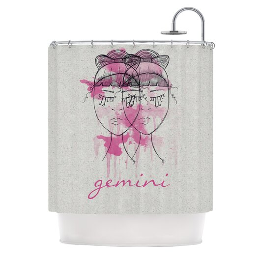 KESS InHouse Gemini Polyester Shower Curtain