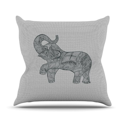 KESS InHouse Elephant Throw Pillow