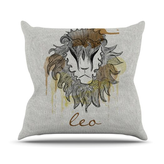 KESS InHouse Leo Throw Pillow