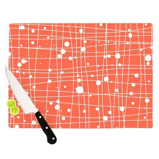 KESS InHouse Woven Web I Cutting Board