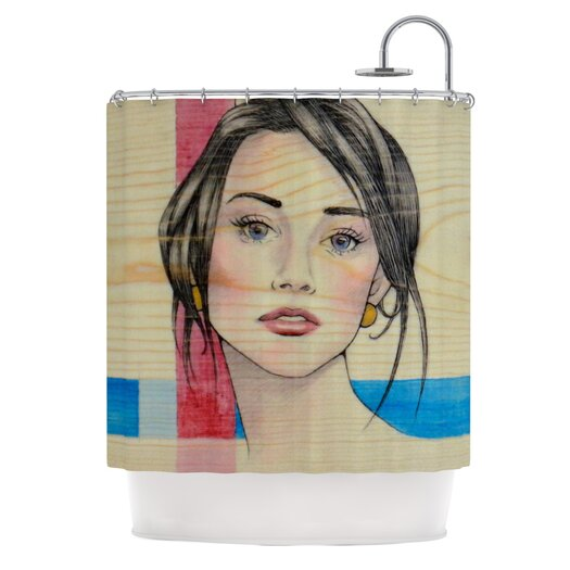 KESS InHouse Face Polyester Shower Curtain