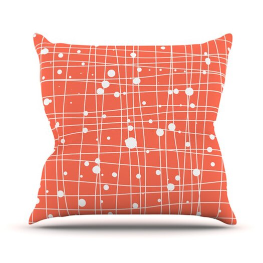 KESS InHouse Woven Web I Throw Pillow