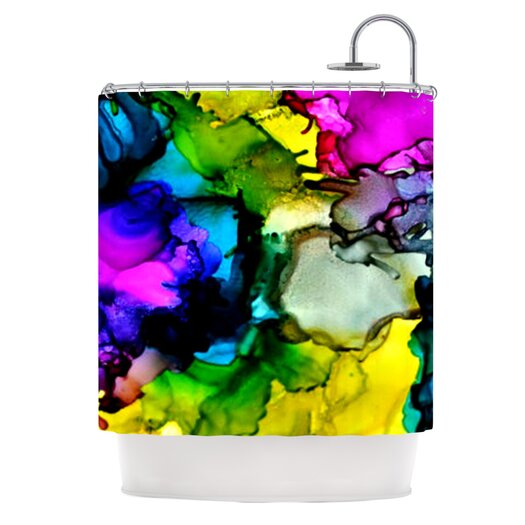 KESS InHouse A Little Out There Polyester Shower Curtain