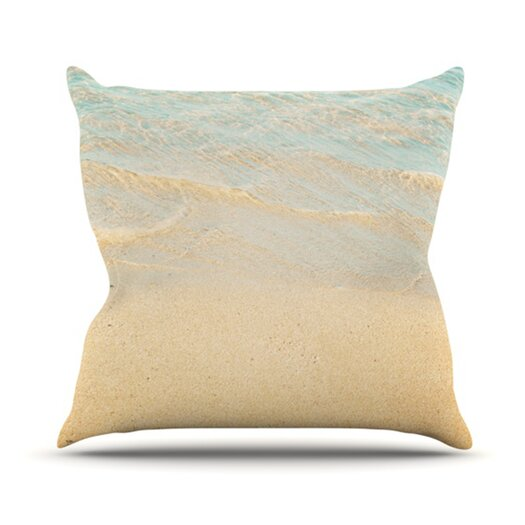KESS InHouse Ombre Water Throw Pillow