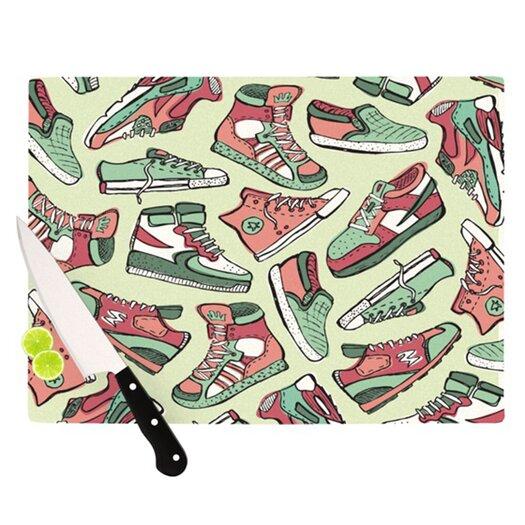 KESS InHouse Sneaker Lover II Cutting Board