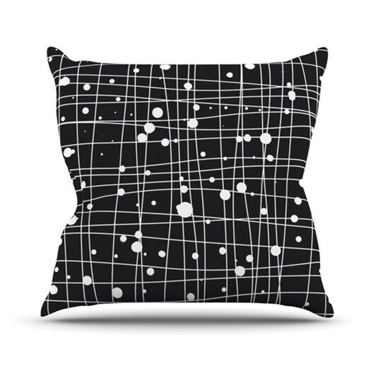 KESS InHouse Woven Web Mono Throw Pillow