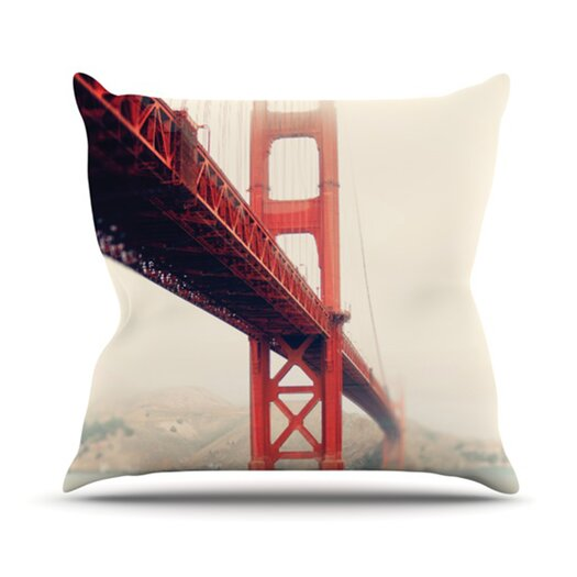 KESS InHouse Golden Gate Throw Pillow