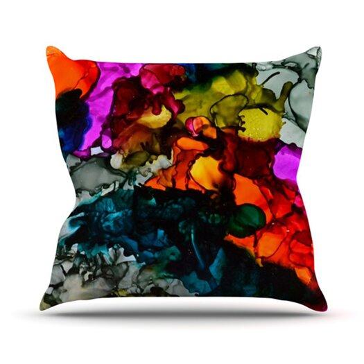 KESS InHouse Hippie Love Child Throw Pillow