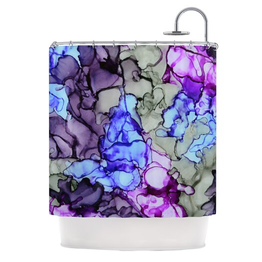 KESS InHouse String Theory Polyester Shower Curtain