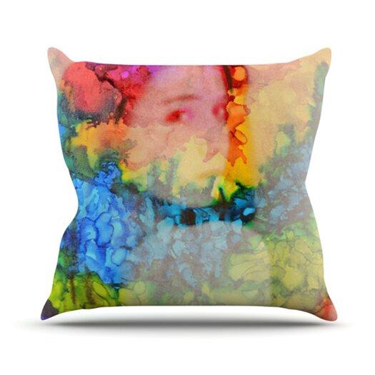 KESS InHouse Rainbow Splatter Throw Pillow