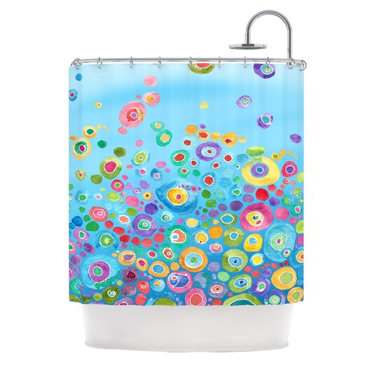 KESS InHouse Inner Circle Polyester Shower Curtain