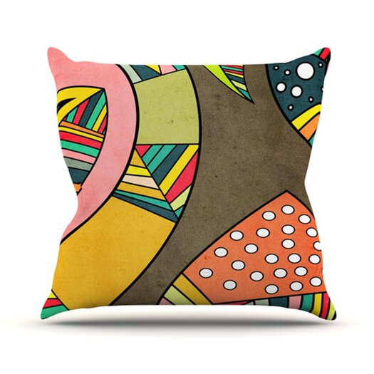 KESS InHouse Cosmic Aztec Throw Pillow
