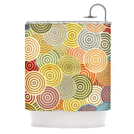 KESS InHouse Matias Girl Polyester Shower Curtain
