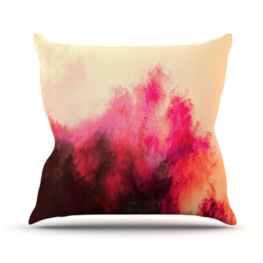 KESS InHouse Painted Clouds II Throw Pillow