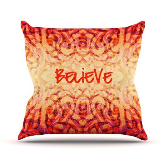 KESS InHouse Tattooed Believer Throw Pillow