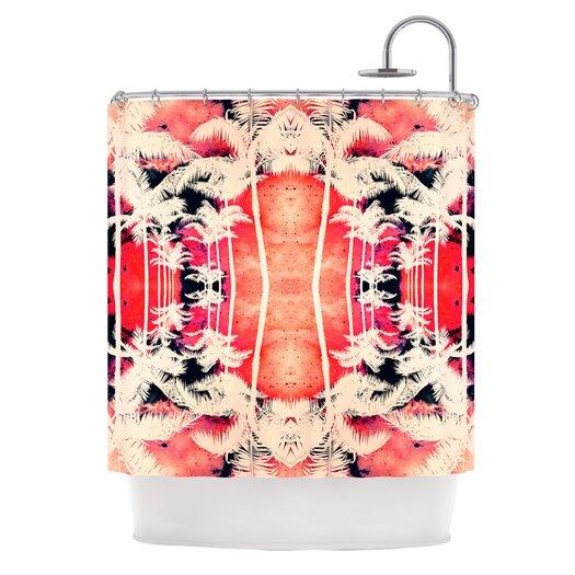 KESS InHouse Lemonade Palm Trees Polyester Shower Curtain