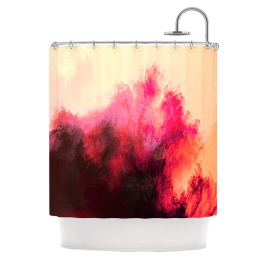 KESS InHouse Painted Clouds II Polyester Shower Curtain