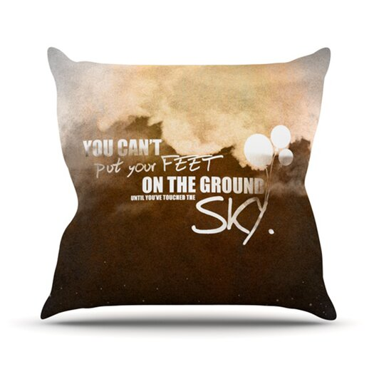 KESS InHouse Touch The Sky Throw Pillow