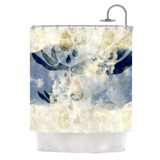 KESS InHouse Doves Cry Polyester Shower Curtain