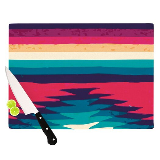 KESS InHouse Passion Flowers I Cutting Board