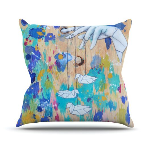 KESS InHouse Origami Strings Throw Pillow