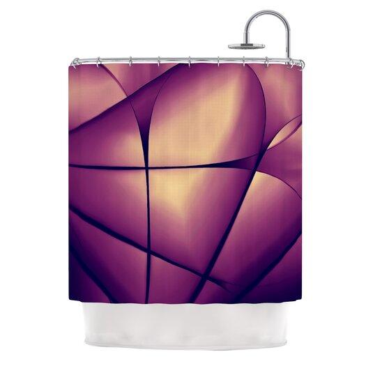 KESS InHouse Paper Heart Polyester Shower Curtain