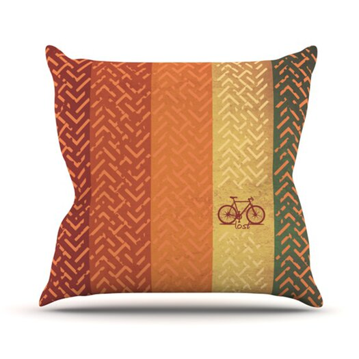 KESS InHouse Lost Throw Pillow
