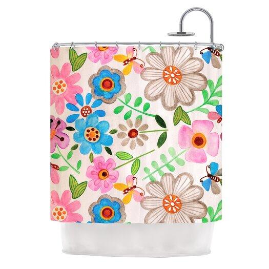 KESS InHouse The Garden Polyester Shower Curtain