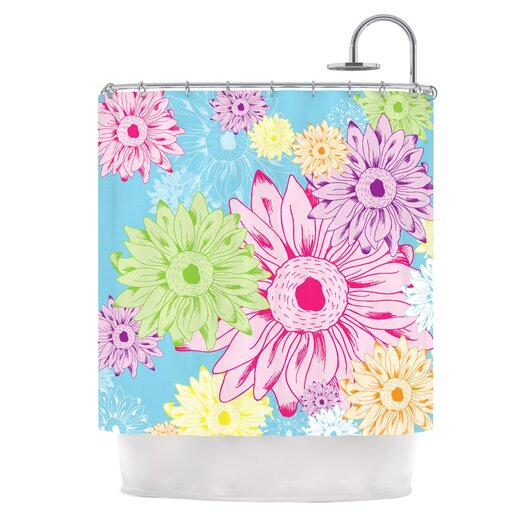 KESS InHouse Summer Time Polyester Shower Curtain