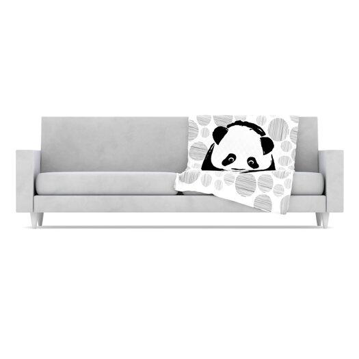 KESS InHouse Panda Microfiber Fleece Throw Blanket